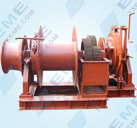Combined anchor winch
